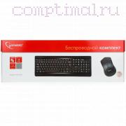 Клавиатура и мышь Gembird KBS-8001, беспровод, черн, USB