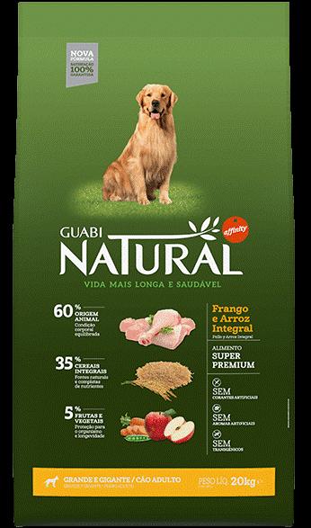 GUABI NATURAL Для Взрослых собак Крупных пород. Цыпленок и коричневый рис 20 кг
