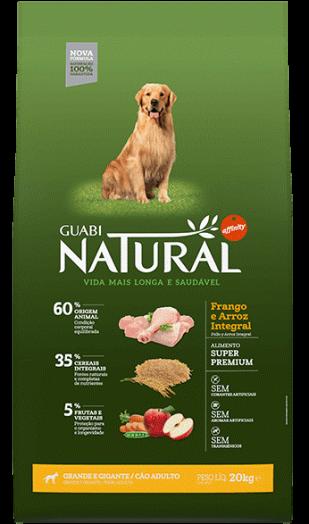 GUABI NATURAL Для Взрослых собак Крупных пород. Цыпленок и коричневый рис 15 кг