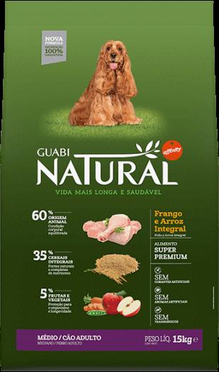 GUABI NATURAL Для Взрослых собак Средних пород. Цыпленок и коричневый рис 20 кг