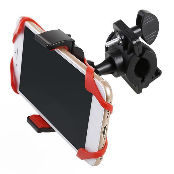 Силиконовый Универсальный Держатель Для Телефона Bicycle Phone Holder, 360 Градусов, Цвет Красный