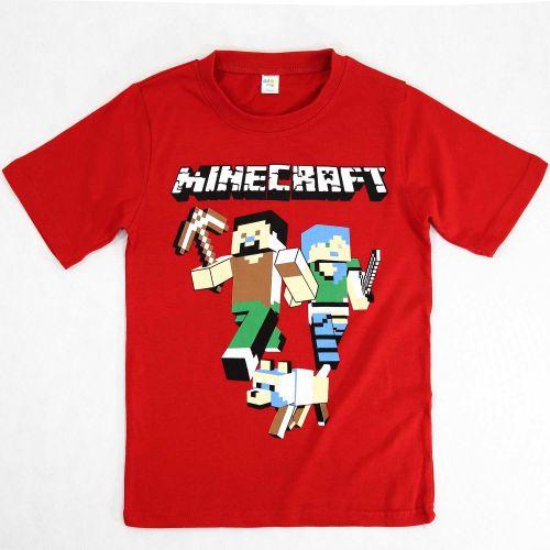 Футболка для мальчика 4-8 лет DIAS kids красная Minecraft