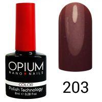 Гель-лак цветной Opium №203, 8 мл