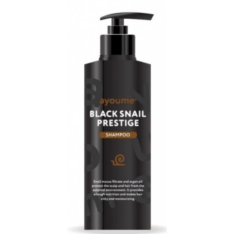 Шампунь для волос с муцином улитки Ayoume black snail prestige shampoo 240мл