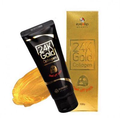 Маска-пленка очищающая с 24к золотом и коллагеном EYENLIP 24K GOLD  COLLAGEN PEEL OFF PACK 100гр