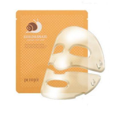 Маска для лица гидрогелевая с золотом и экстрактом улитки PETITFEE GOLD&SNAIL hydrogel mask pack 30гр