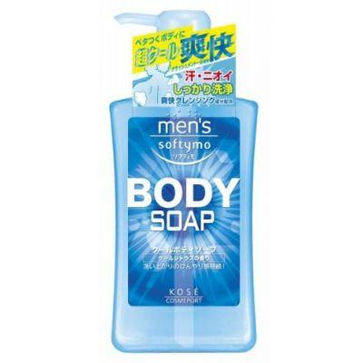 Kose Cosmeport Men's Softymo Мужской гель для душа с охлаждающим эффектом и цитрусовым ароматом 550 мл