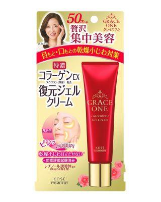 Kose Cosmeport Grace One Интенсивно восстанавливающий гель-крем для кожи вокруг глаз и губ после 50 лет 30 гр