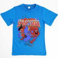 Футболка для мальчика 4-8 лет DIAS kids синяя Человек паук