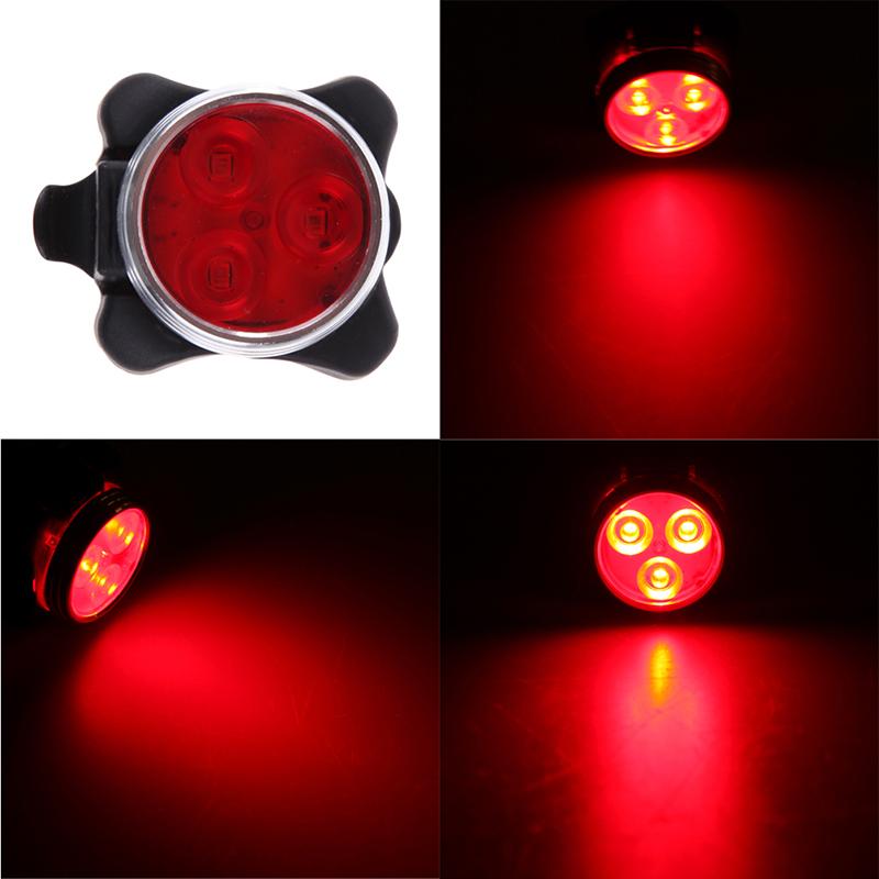 Универсальный Фонарь Для Велосипеда LED Light Combo Zecto Drive HJ-030, USB, Цвет Красный
