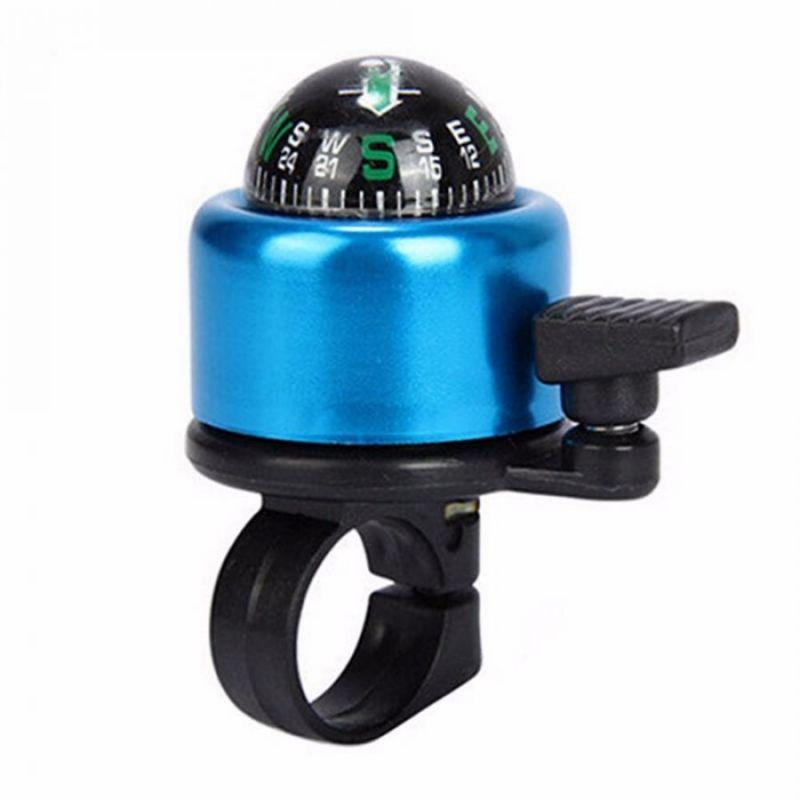 Велосипедный звонок со встроенным компасом, 7х4х4 см, цвет синий