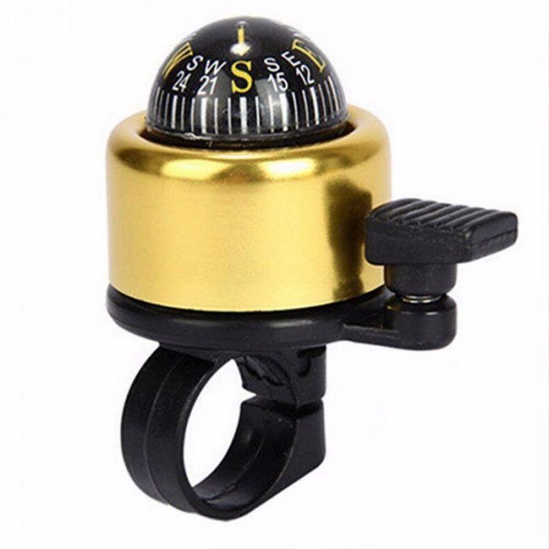 Велосипедный звонок со встроенным компасом, 7х4х4 см, цвет золотистый
