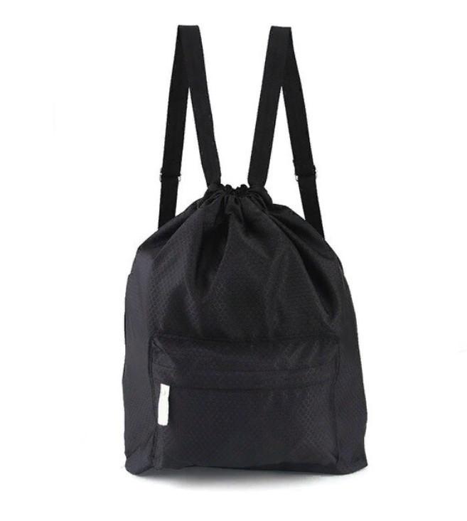 Пляжная Сумка-Рюкзак С Отделением Для Мокрых Вещей, 30х40 См, Цвет Черный