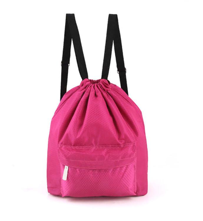Пляжная Сумка-Рюкзак С Отделением Для Мокрых Вещей, 30х40 См, Цвет Розовый