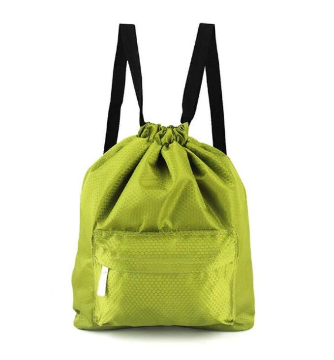 Пляжная сумка-рюкзак с отделением для мокрых вещей, 30х40 см, цвет зеленый