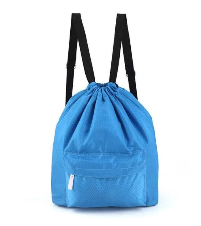 Пляжная сумка-рюкзак с отделением для мокрых вещей, 30х40 см, цвет голубой