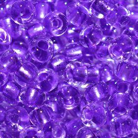 Бисер чешский 38928 прозрачный сиреневая фиолетовая линия внутри Preciosa 1 сорт купить оптом