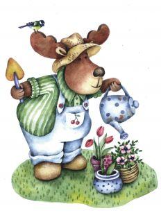 Почтовая открытка Валентин-садовник