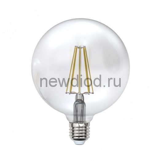 Лампа светодиодная LED-G125 ШАР 10W/WW/E27/CL Sky 3000К прозрачная Uniel