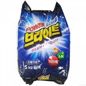 Mukunghwa Bright Powder Detergent Стиральный порошок Белизна и Яркость с пузырьками кислорода и содой 5 кг