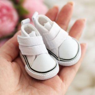 Обувь для кукол Кеды 5см (белые)