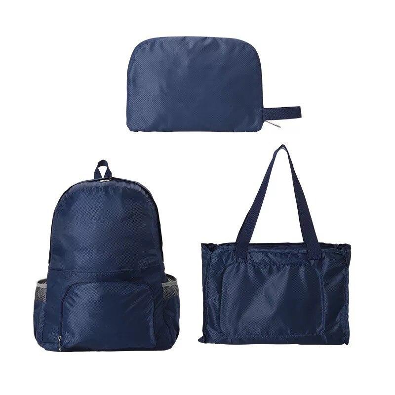 Водонепроницаемый Складной Рюкзак-Трансформер 2 В 1 Magic Backpack, Цвет Синий