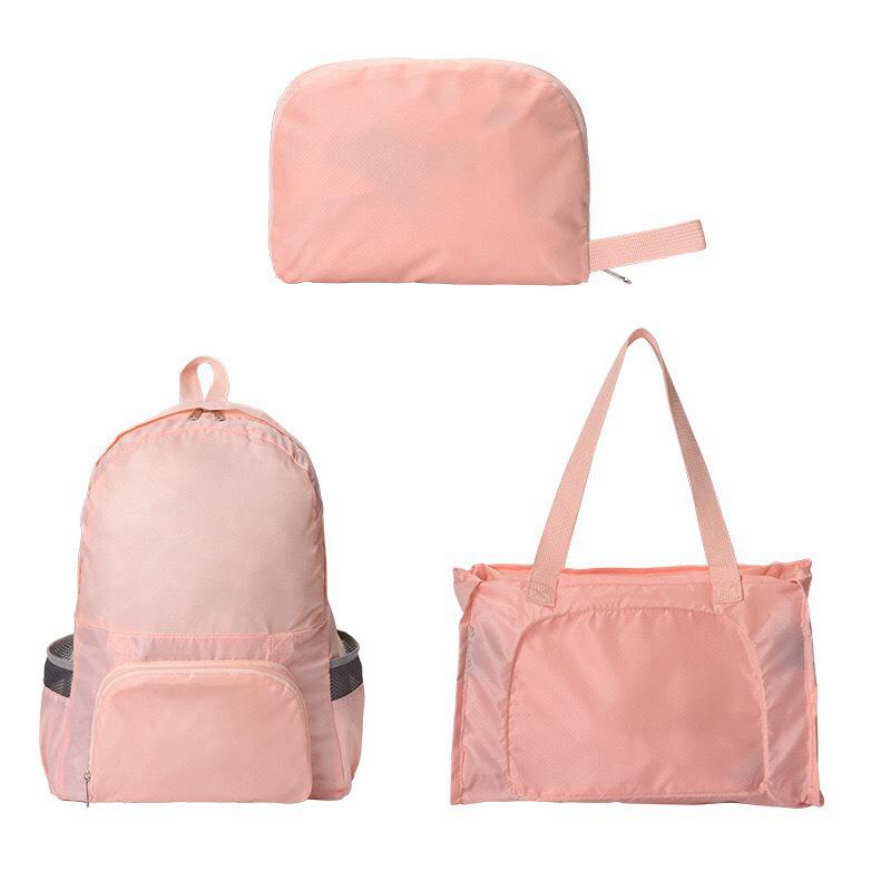 Водонепроницаемый Складной Рюкзак-Трансформер 2 В 1 Magic Backpack, Цвет Розовый