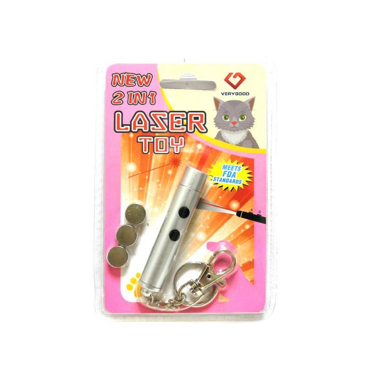 Игрушка Для Кошек Со Светящимся LED-Лучом Laser Toy, Цвет Серый