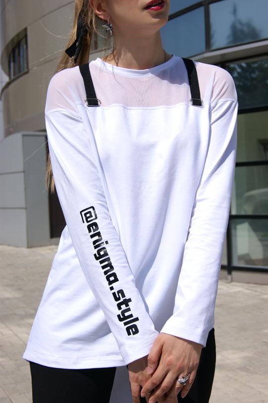 Женская футболка с сеткой