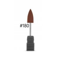 """Силиконовая насадка """"Конус"""" для аппаратного маникюра, 10х20, коричневая"""