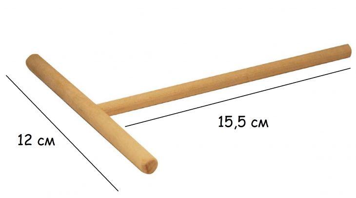 Ролик для блинов Т-образный 12 см