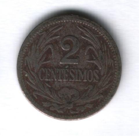 2 сентесимо 1909 года Уругвай
