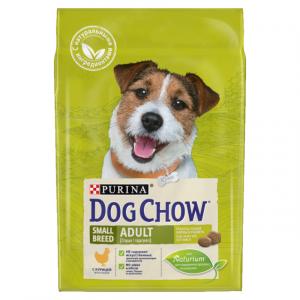 Корм сухой Purina Dog Chow Small Breed Adult для взрослых собак малых и миниатюрных пород с курицей 0.8кг