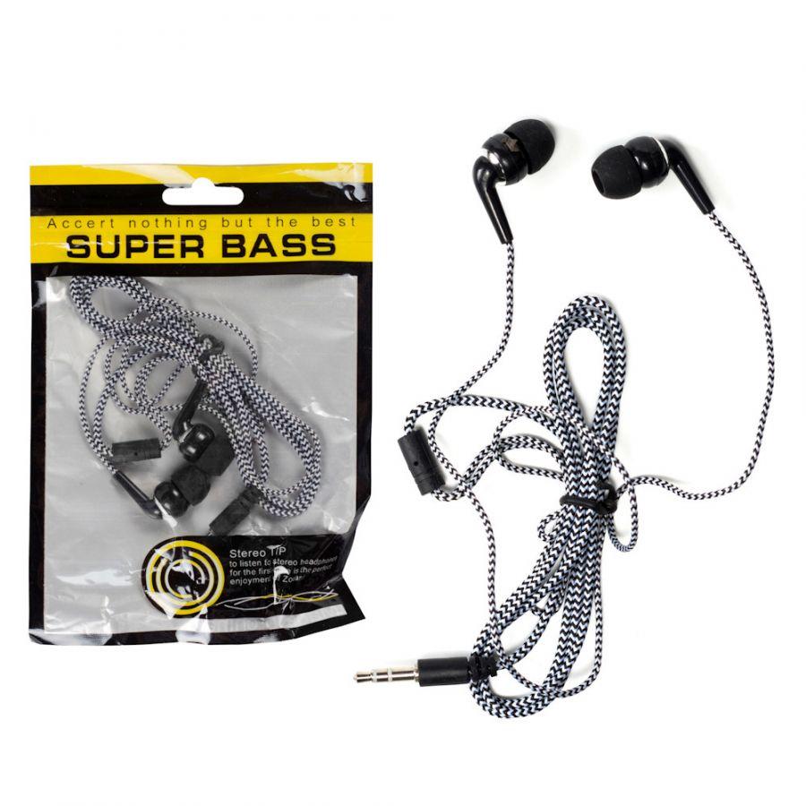 Наушники вакуумные 057 Super Bass белые (в пакетике)