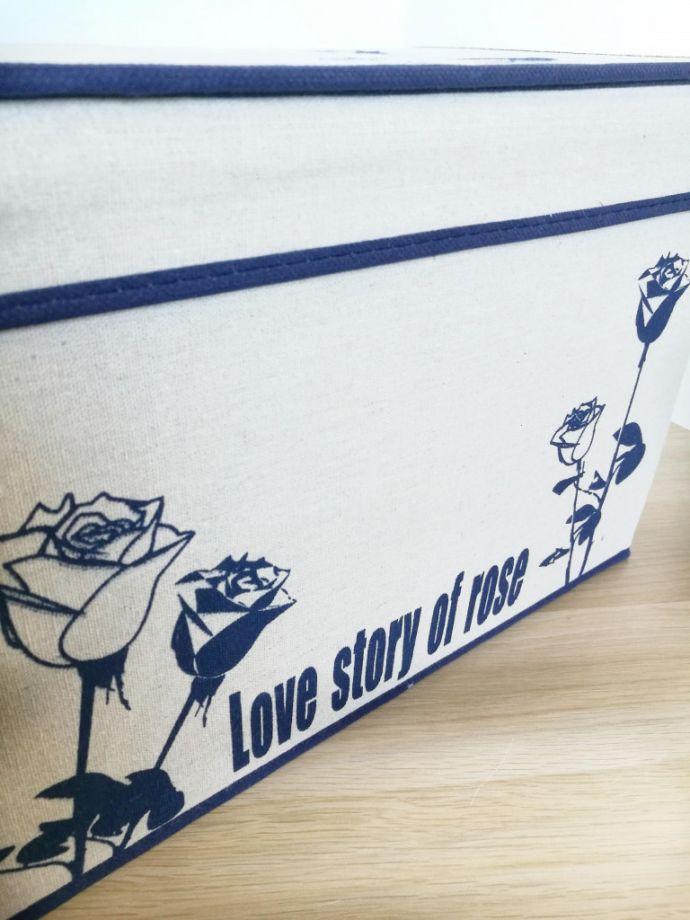Короб для хранения вещей Love Story Of Rose, 44х29х30 см, Синие Розы