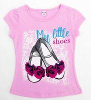 Футболка для девочек 4-8 лет Bonito kids розовая
