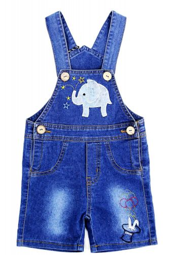 Полукомбинезон джинсовый для мальчика Bonito Jeans с слоненком