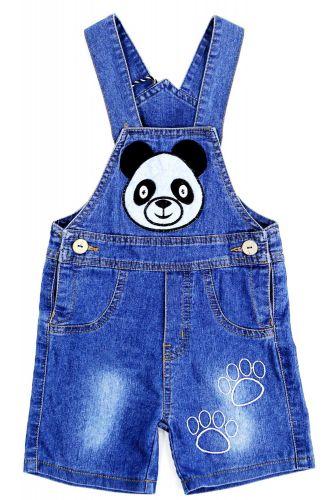 Полукомбинезон джинсовый для мальчика Bonito Jeans с пандой