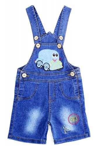 Полукомбинезон джинсовый для мальчика Bonito Jeans с машинкой