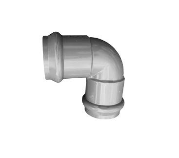 Отвод напорный НПВХ 225 90˚ двухраструбный