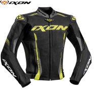 Мотокуртка кожаная Ixon Vortex 2, Черный/серый/желтый