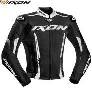 Мотокуртка кожаная Ixon Vortex 2, Черный/белый