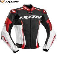 Мотокуртка кожаная Ixon Vortex 2, Черный/белый/красный