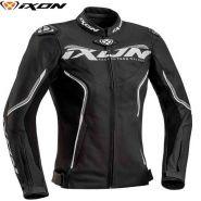 Куртка кожаная женская Ixon Trinity, Черный/белый/серый