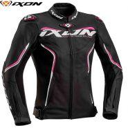 Куртка кожаная женская Ixon Trinity, Черный/белый/розовый
