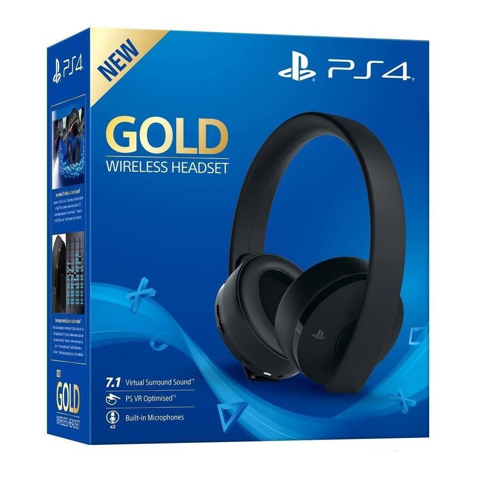 Sony Гарнитура беспроводная черная Gold для PS4 (CUHYA-0080) Wireless Headset 7.1 Наушники беспроводные