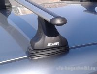 Багажник на крышу OPEL Meriva (5-dr MPV) 03-10, Атлант, аэродинамические дуги, опора Е