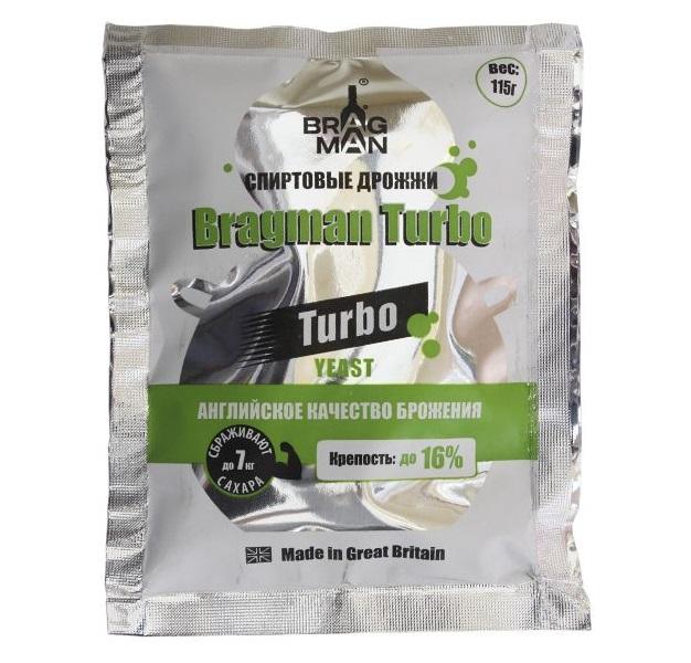 Спиртовые дрожжи Bragman Turbo, 115 гр