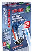 Tri-Bio Биоформула для прочистки бытовых канализаций контроллер запаха 100 г