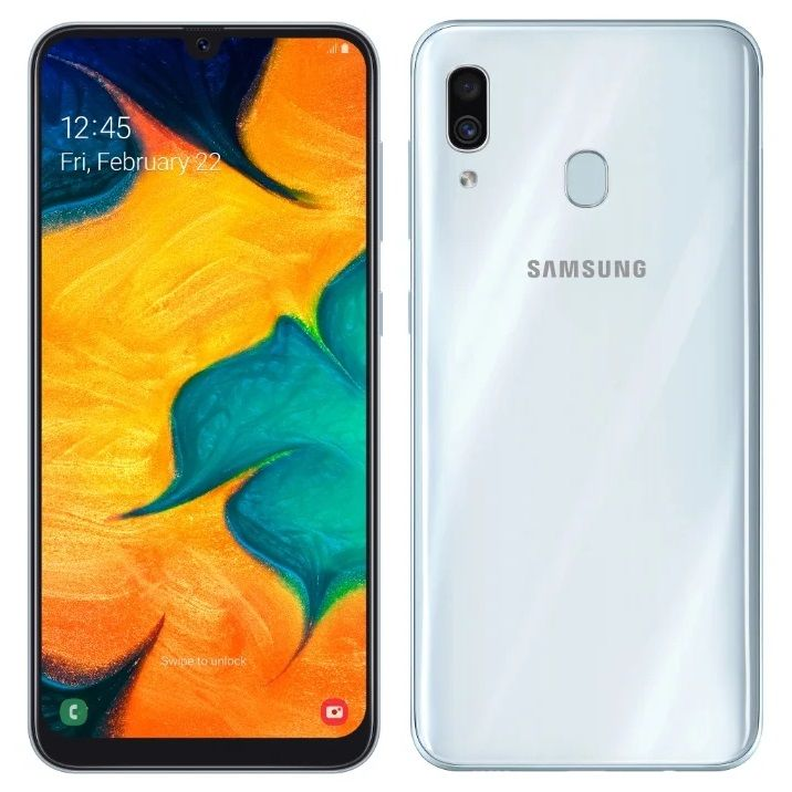 Samsung Galaxy A30 3/32GB (2019) White (SM-A305FZWUSER)
